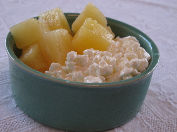 Cottage Cheese With Pineapple Chunks AM